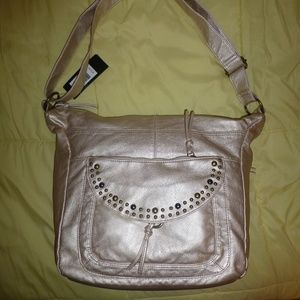 Bueno Gold Shimmer Purse, Roomy, NWT